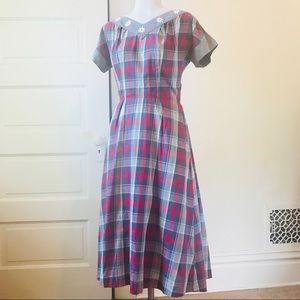 Mid-century Vintage Rockabilly Swing Dress Size M